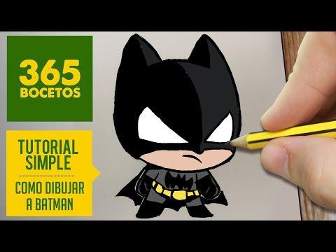 Como Dibujar Batman Kawaii Paso A Paso Kawaii Facil How To
