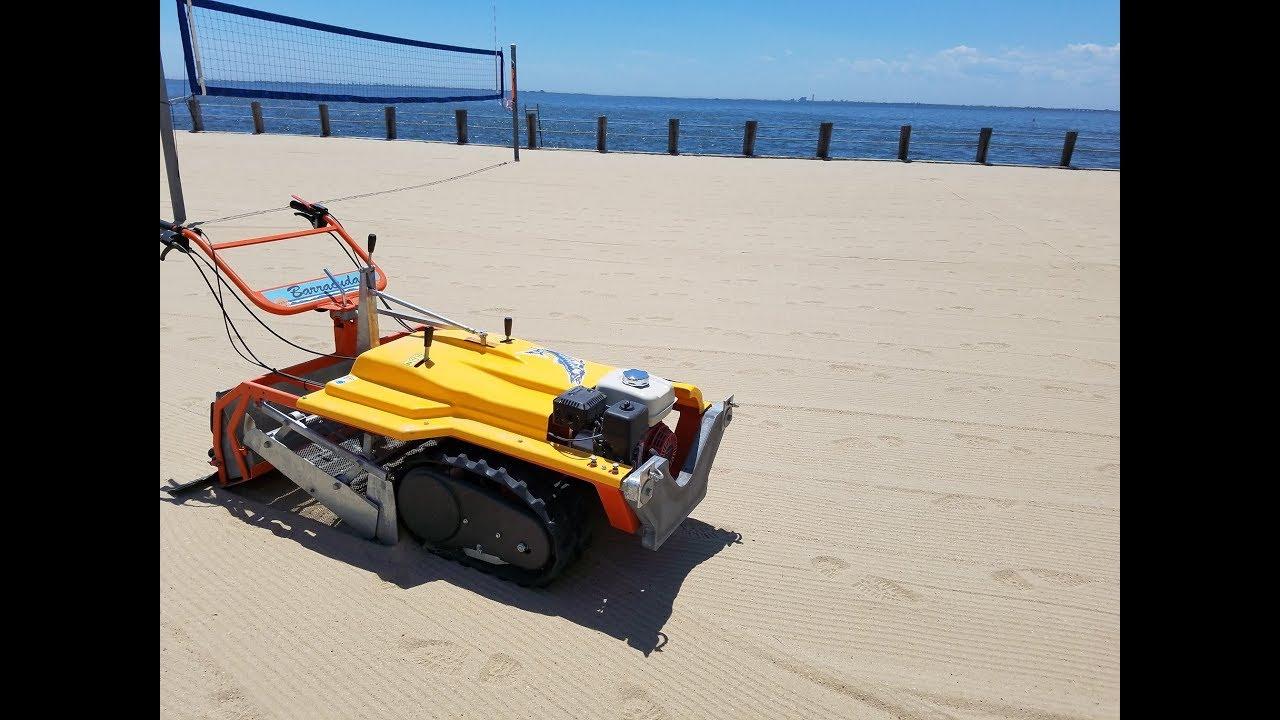 Bahama Sand Rake No Tire Tracks After Beach Cleaning
