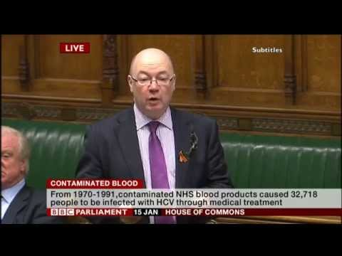 Contaminated Blood Debate - House of Commons - Thursday 15th January 2015