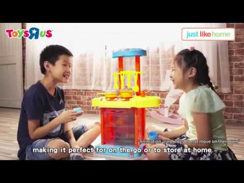 Just Like Home Foldable Kitchen Playset Youtube