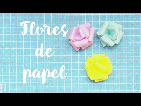 Como Hacer Flores De Papel Rosas De Papel Youtube