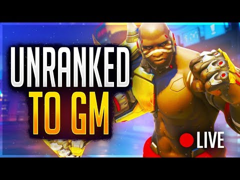 🔴Overwatch Smurfing Unranked to GM LIVE! Rank #1 NA Peak -- CONTENDERS PLAYOFFS SECURED!