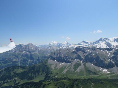 Zweisimmen fliegen Segeln Segelfliegen Switzerland Swiss Alps Schweiz Gopro Beautiful Blue Sky