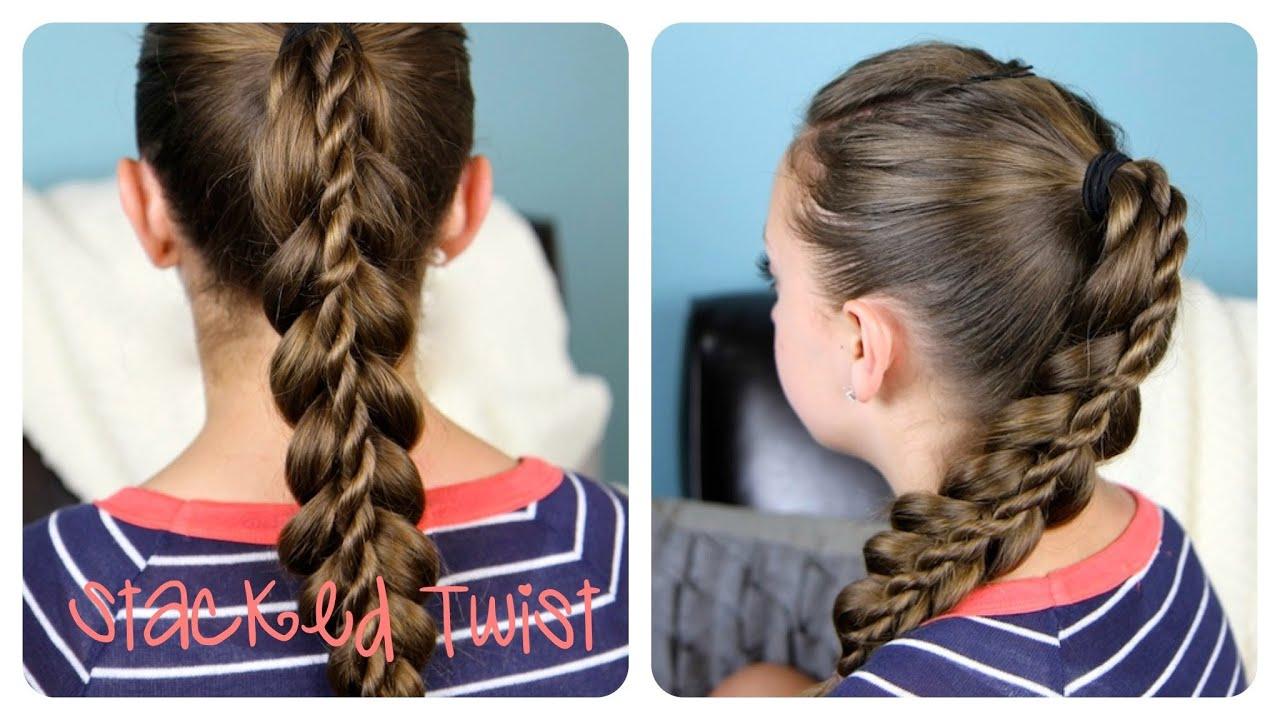stacked twist ponytail cute girls