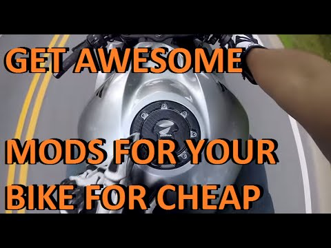 How to find mods for your motorcycle cheap!