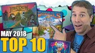 Top 10 most popular board games: May 2018