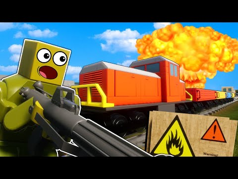 OB & I Went To WAR With The Lego Train! - Brick Rigs Multiplayer Roleplay