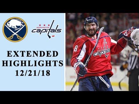 Buffalo Sabres vs. Washington Capitals | EXTENDED HIGHLIGHTS | 12/21/18 | NHL on NBC
