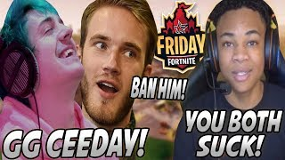 [11.54 MB] Ninja & PewDiePie TEAM UP Against Ceeday For The Most TOXIC Game Ever! (Both POVs)
