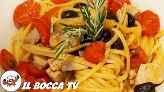152 - Linguine pomodoro e tonno fresco...un primino pittoresco (primo piatto facile fresco estivo)