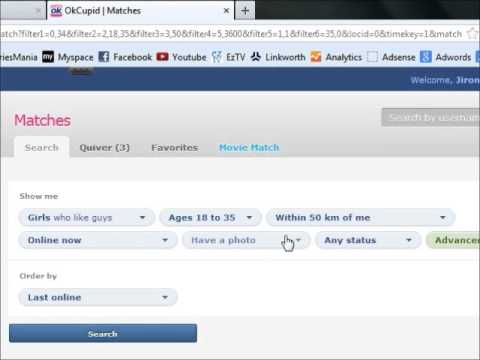 Online Dating - How to Search For Profiles to Get Quick Replies (OKCupid)
