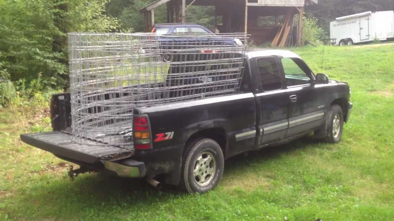 How To Load 16ft Fence Panels Into A 6ft Truck Bed Youtube