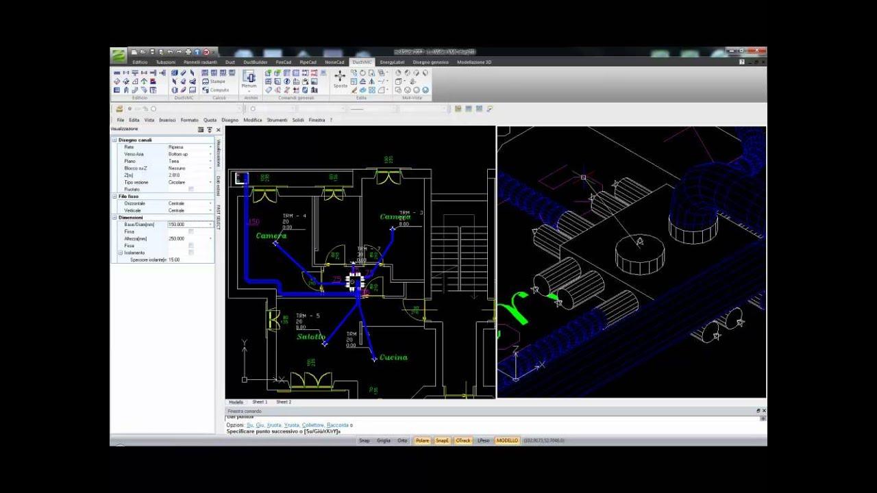 Ductvmc il software per la progettazione ed il calcolo for Software di progettazione domestica personalizzato