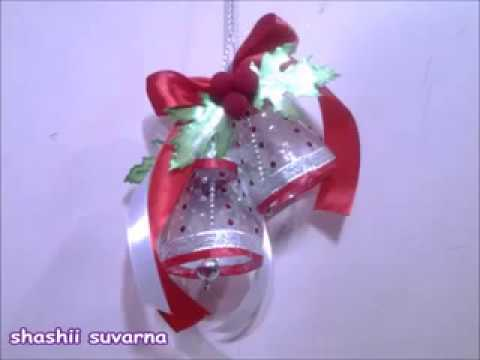 How to make christmas bells with plastic bottles   Christmas bells - YouTube