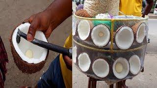 FRUIT NINJA of COCONUT | Fast Fruit Cutting & Healthy Tasty chira(Coconut) | Bangladeshi Street Food