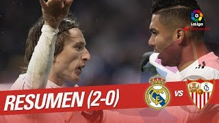 resumen de real madrid vs sevilla fc 2 0