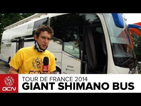 Giant Shimano Team Bus Tour   Tour de France 2014