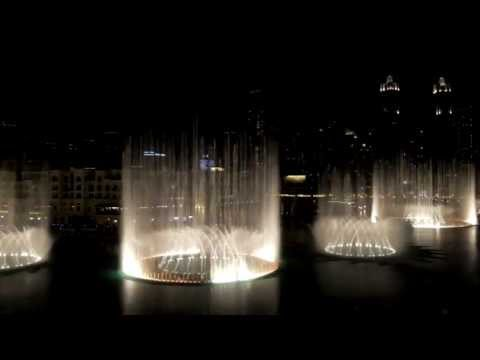 "The Dubai Fountain show ""Wen Bie"" ""Goodbye Kiss"" by Jacky Cheung in Dubai, United Arab Emirates"