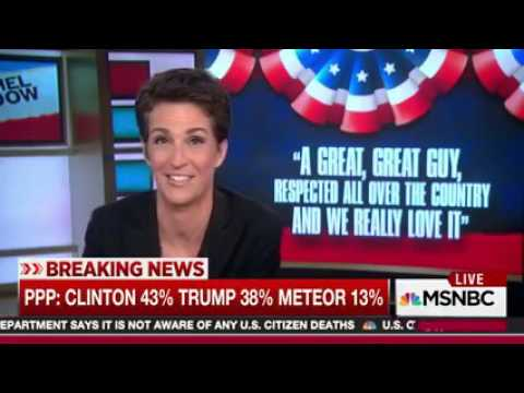 New PPP poll. Giant Meteor Hitting Earth is at 13% against Hill and Trump.