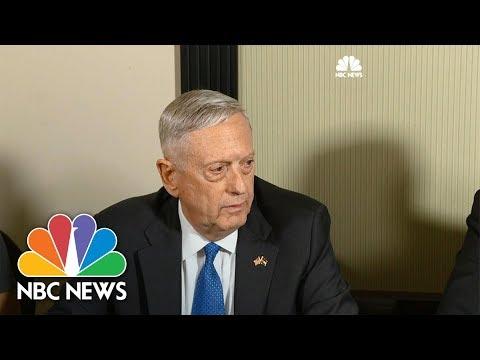 Defense Secretary James Mattis: USS McCain Crash Under Investigation   NBC News