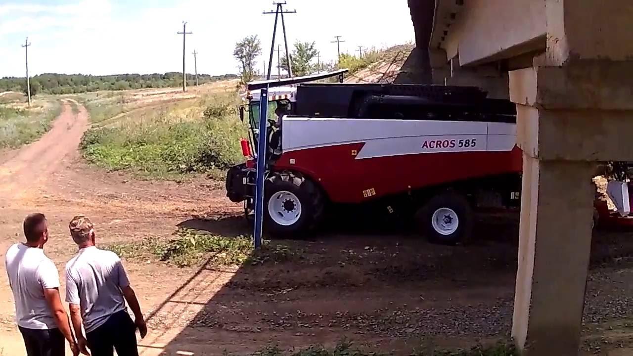 Зерноуборочный комбайн ACROS 590 Plus (любительская съемка) - YouTube