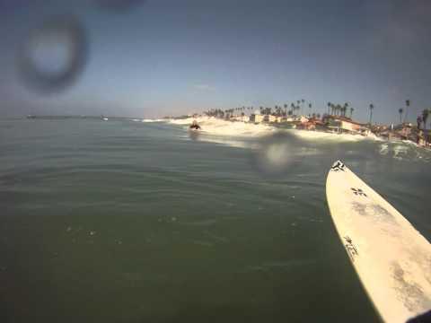 Brincando com a GoPro em frente de casa, Oceanside , muito legal a filmagem dentro dágua