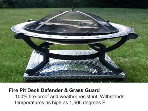 Prevent Your Fire Pit From Ruining Your Grass Or Deck