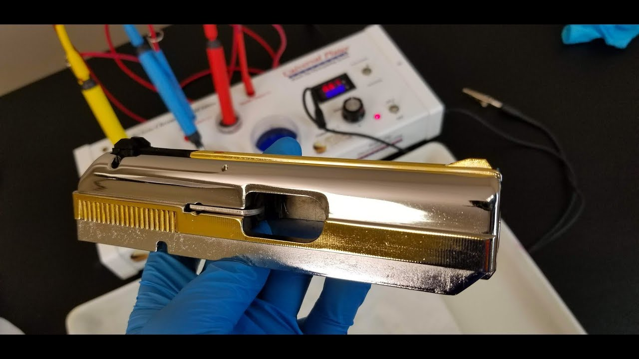 Gold Plating a Gun Slide – 24K Pen Plating