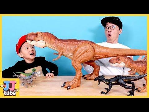 [공룡 상황극 모아보기] 인도랩터 티라노 알을 갖고 뛰어라 쥬라기 월드 공룡 박물관 Jurassic world Dinosaurs for Kids[제이제이 튜브-JJ tube]