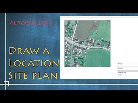 autocad-2018---how-to-draw-a-location-site-plan