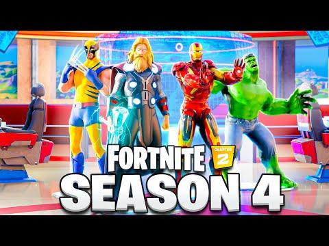 *LEAKED* SKINS in Fortnite Season 4! (New Battlepass, Skins + MORE)