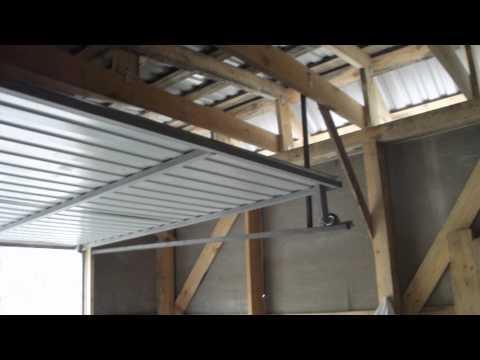 видео: подъемно-поворотные ворота своими руками