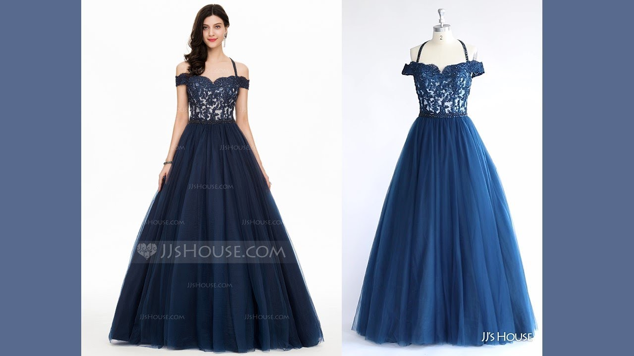 Prom Dress 147850丨Ball-Gown Off-the-Shoulder Tulle Prom Dress - JJ ...