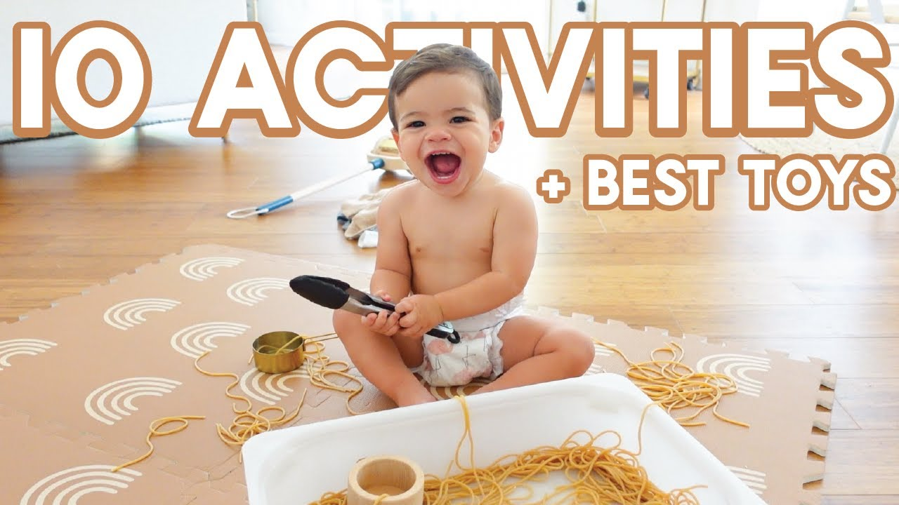 HOW TO ENTERTAIN  A 1 YEAR OLD | 10 DIY Sensory Activities + Toys