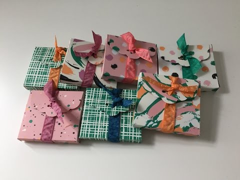 Chocolate Treat Gift Wrap - Video Tutorial With Playful Palette DSP By Stampin' Up