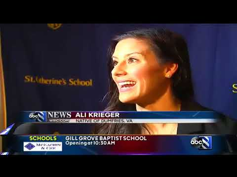 World Cup Champion Ali Krieger speaks to students and parents in Richmond WRIC