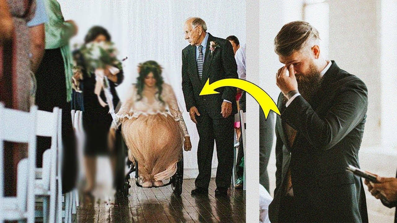عروس معاقة كشفت عن مفاجأة خلال حفل زفافها ، لن تصدق ماذا حدث !!