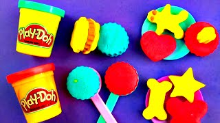 Play-doh Candy Jar Sweet Shoppe Diy Play Set Lollipops Cookies Chocolate Candy Desserts Fluffyjet