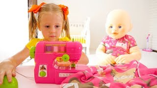 Nastya وعملاقة دمية طفل