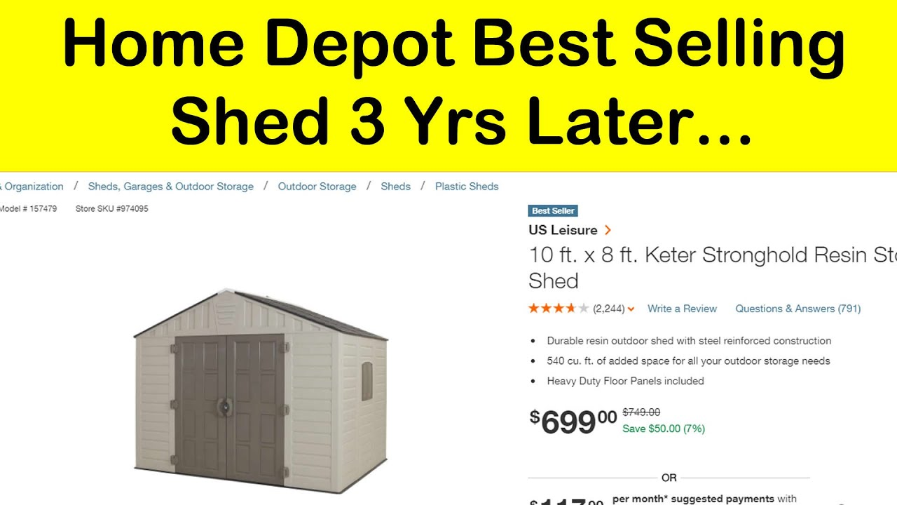 Home Depot 10 X 8 Keter Shed 3 Years Later Youtube