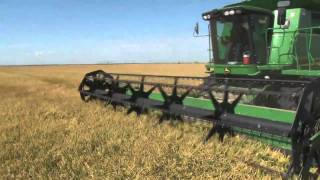 2010 California Rice harvest, shot in high definition