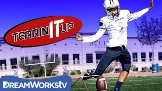 13-Year-Old Field Goal Kicking Phenom | TEARIN