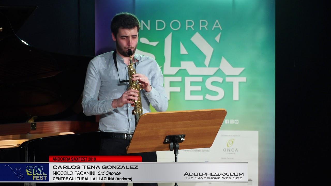 Andorra SaxFest 2019 1st Round   Carlos Tena Gonzalez   3rd Caprice by Niccolo Paganini