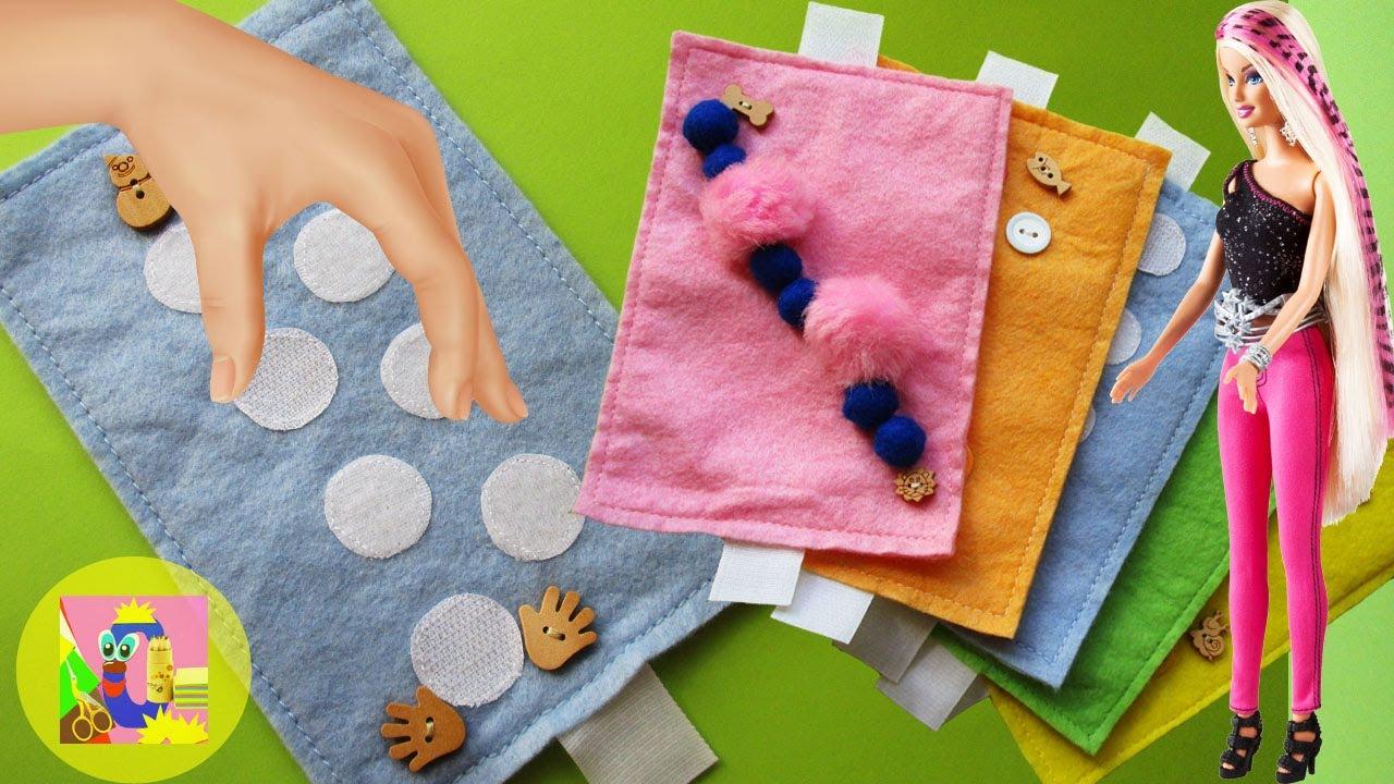 Baby Toys Ideas Winter Felt Fingers Massage Mat Velcro