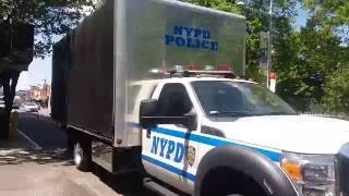 NYPD Crime Scene Unit Truck Parked Outside NYPD CSU Crime Lab In Queens, NYC