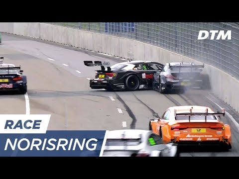 René Rast slides against the wall! - DTM Norisring 2017