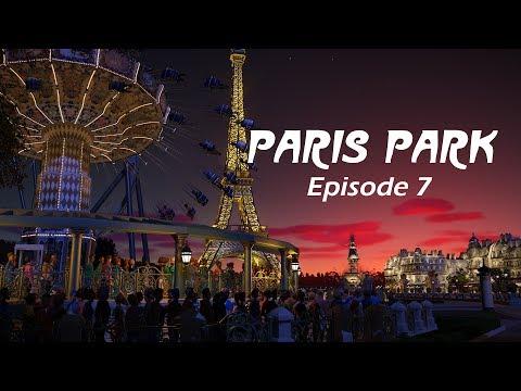 Planet Coaster - Paris Park Episode 7 / Fountains and Flat Rides