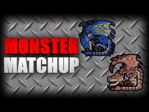 MONSTER MATCHUP - Pink Rathian & Azure Rathalos (Monster Hunter: World) thumbnail