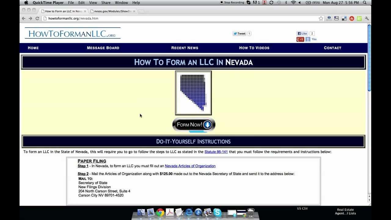 How to form an llc in nevada youtube solutioingenieria Choice Image