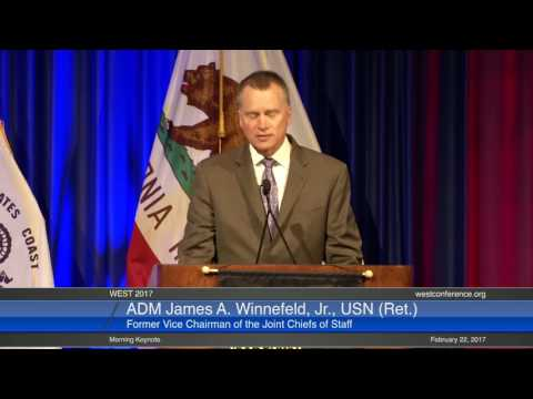 ADM James A. Winnefeld, Jr., USN (Ret.), former Vice Chairman of the Joint Chiefs of Staff